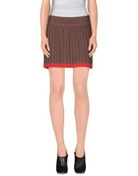 Tommy Hilfiger Denim Mini Skirts Dark Brown