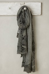 Anthropologie Felce Laced Scarf Dark Grey