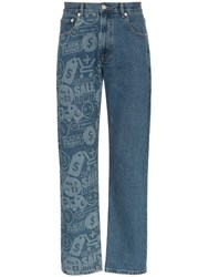 Cmmn Swdn Connor Printed Jeans Blue