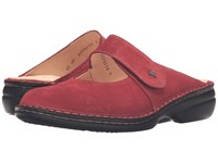 Finn Comfort Stanford Inkared Velour Women's Clog Mule Shoes