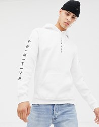 Primitive Primtiive Moods Hoodie With Logo In White