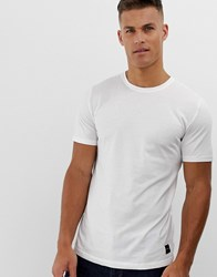 Only And Sons Longline T Shirt In White