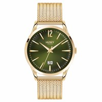 Henry London Men's Chiswick Stainless Steel Bracelet Watch Gold Green