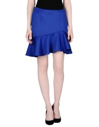 Rose Mini Skirts Blue