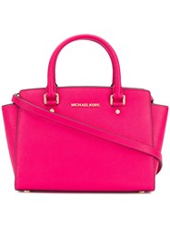 Michael Kors Collection Selma Saffiano Bag Pink And Purple