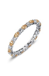 Lafonn Women's Simulated Diamond Birthstone Band Ring November Yellow Topaz