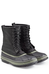 Sorel Leather Rubber All Weather Boot Black