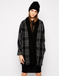 Religion Morality Checked Coat Greyblack