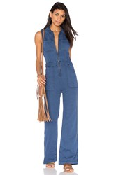 Free People The Wind And More Retro Jumpsuit Blue