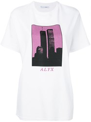 Alyx Tower Graphic Print T Shirt White