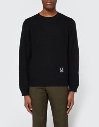 Fred Perry Crew Neck Jumper Black