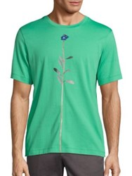 Paul Smith Flower Stem Printed Tee Aqua