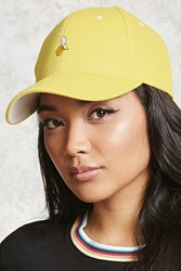 Forever 21 Banana Embroidered Dad Cap Yellow