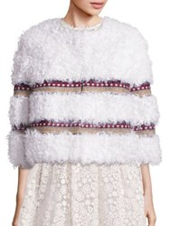 Red Valentino Lamb Fur Jacket Ivory