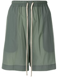 Rick Owens Relaxed Track Shorts Green