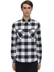 Calvin Klein Jeans Check Cotton Flannel Western Shirt Black
