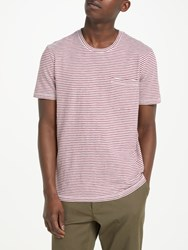 John Lewis And Co. Stripe Cotton T Shirt Pink