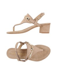 Andrea Morando Footwear Thong Sandals Women Camel