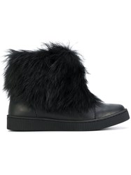 Pedro Garcia Priya Boots Leather Rabbit Fur Rubber Black