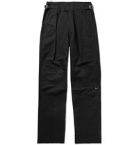Raf Simons Black Bootcut Embroidered Cotton Twill Trousers Black