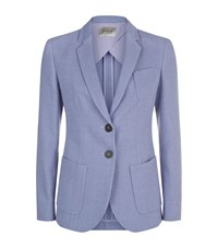 Armani Collezioni Textured Blazer Jacket Female Purple