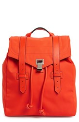 Proenza Schouler 'Ps1' Nylon Backpack Red Fire Red