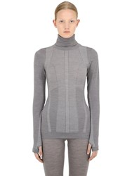 Falke Long Sleeve Shirt Ski Top Grey