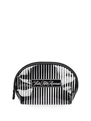 Saks Fifth Avenue Signature Striped Cosmetic Case