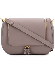 Anya Hindmarch 113922 Porcini Leather Fur Exotic Grey