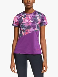 Ronhill Stride Revive Short Sleeve Running Top Grape Juice Hot Coral