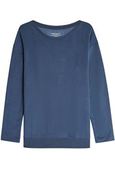 Majestic Sweatshirt With Lace Up Sides Blue