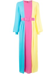 Emilia Wickstead Colour Block Long Dress Multicolour