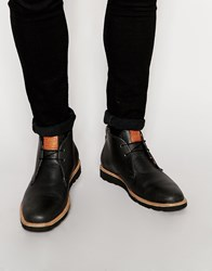 Original Penguin Leather Desert Boots Black