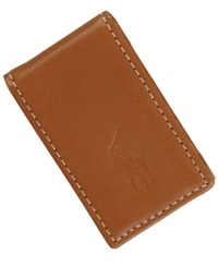 Polo Ralph Lauren Accessories Burnished Leather Money Clip Brown
