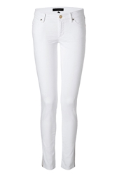 Juicy Couture Distressed Jeans In White Gold