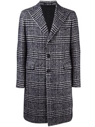 Tagliatore Houndstooth Coat Blue