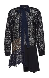N 21 No. Amalia Long Sleeve Lace Shirt Dress Black Blue Brown