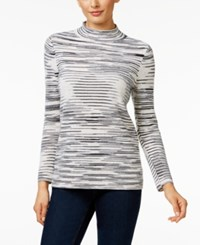 Charter Club Cashmere Space Dyed Sweater Only At Macy's Ivory Combo