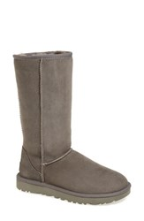 Uggr Women's Ugg 'Classic Ii' Genuine Shearling Lined Tall Boot Grey Suede