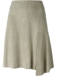 Steffen Schraut Leather Skirt Green