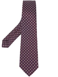 Kiton Floral Pattern Tie Red