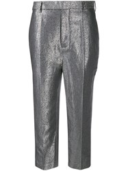 Rick Owens Metallic Cropped Trousers 60