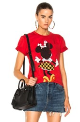 Victoria Beckham Cotton Jersey Minnie Mouse Tee In Red