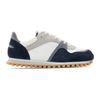 Spalwart Navy And White Marathon Trail Low Sneakers
