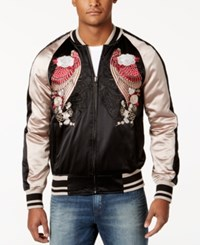 William Rast Men's Forge Embroidered Bomber Jacket Black