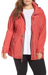 Columbia Plus Size Women's Suburbanizer Water Resistant Front Zip Hooded Jacket Sunset Red