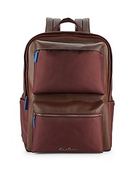 Robert Graham Landing Leather Blend Backpack Burgundy