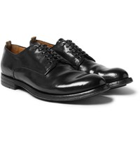 Officine Creative Anatomia Polished Leather Derby Shoes Black