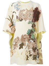 Valentino 'Kimono 1997' Print Dress Nude And Neutrals