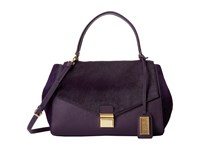 Badgley Mischka Mindy Haircalf Satchel Plum Satchel Handbags Purple